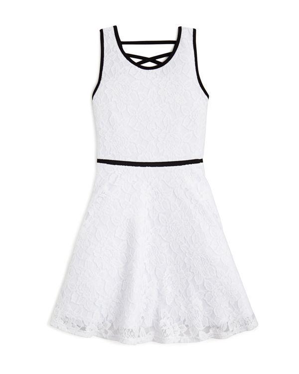 Sally Miller Girls' Lace Criss Cross Back Dress - Sizes S-xl