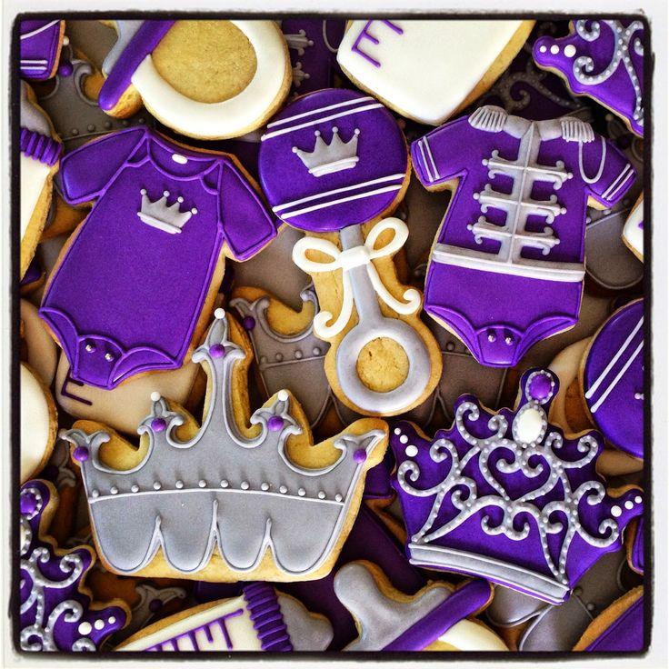 Royal Purple Baby Shower icingcookies#sugarcookies #アイシングクッキー