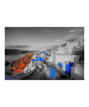 Love this Santorini Gallery-Wrapped Canvas on #zulily! #zulilyfinds