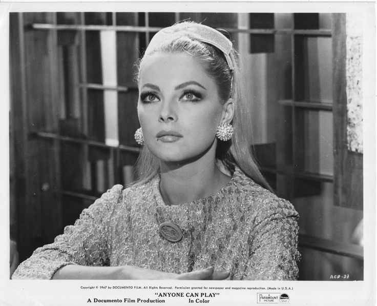 """Virna Lisi, 1967. I might have been required to be that stage name also. """"The Birds"""" the second one my father and groups made with me."""