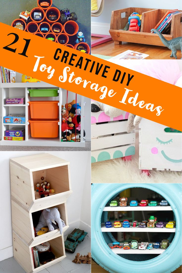 21 Creative Diy Toy Storage Ideas You Need To See Anika S Diy Life In 2020 Diy Toy Storage Toy Organization Diy Woodworking Projects Diy #toy #organization #ideas #for #living #room