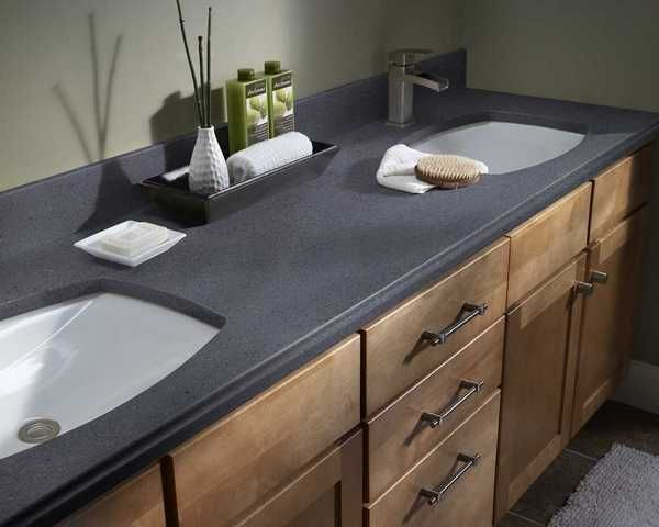 Vanity Top In Corian Mineral, One Of The New Colors For 2013