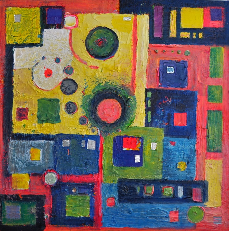 Rich Candy coloured squares and circles