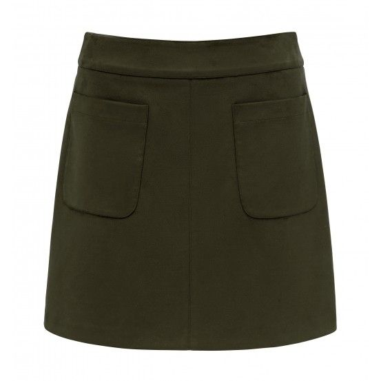 Alexa A-Line faux suede mini skirt