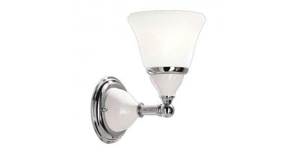 Porcelain 1 Light Bathroom Sconce