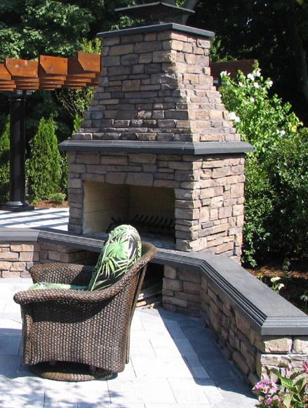 Backyard Living Ideas best 25+ backyard fireplace ideas on pinterest | outdoor