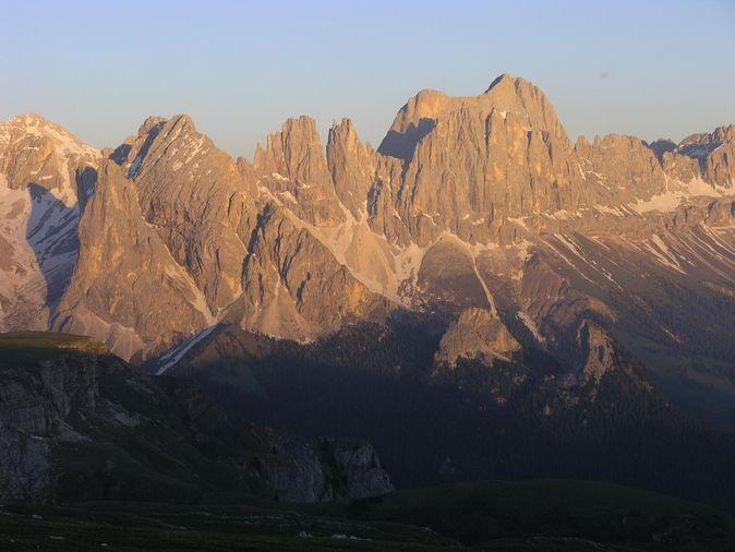 Sonnenuntergang am Rosengarten - Dolomiten - Italien