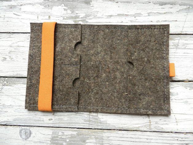 Reise etui, Dokumententasche für DIN A7 mit Fuchs (mit Broschüre) Die Mappe ist aus Filzstoff (3 mm) hergestellt und ein A/7 Skizzenblock (mit 20-30 Blatter) passt zur Mappe, die zwei kleine...