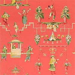 Chinoiserie wallpaper and fabric - Thibaut