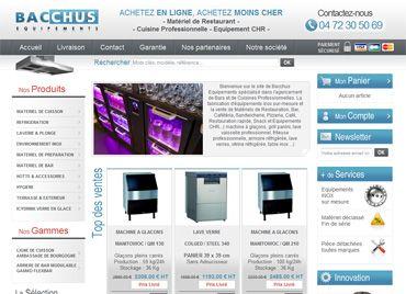 Refonte du site eCommerce BtoB Bacchus-equipements.com : matériel restaurant, équipement CHR, cuisine professionnelle...