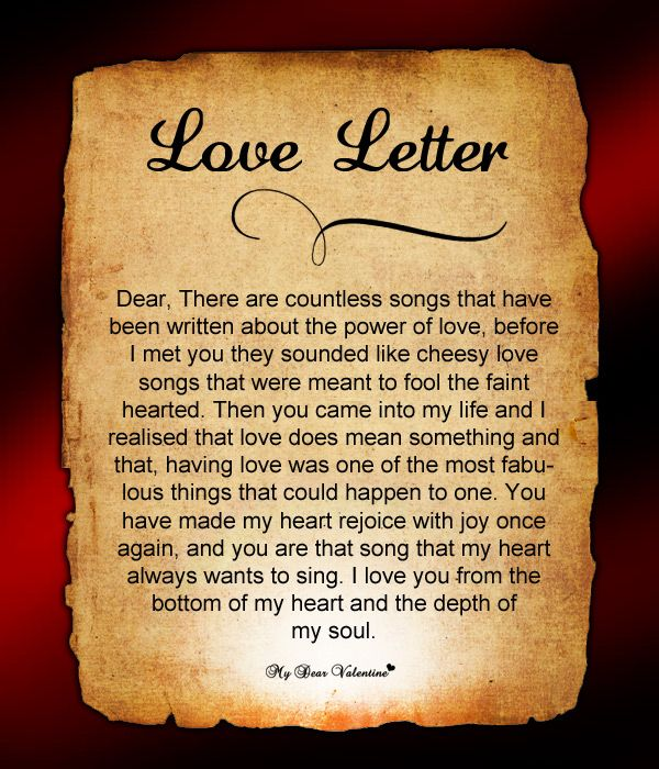 Love Letter For Him #76