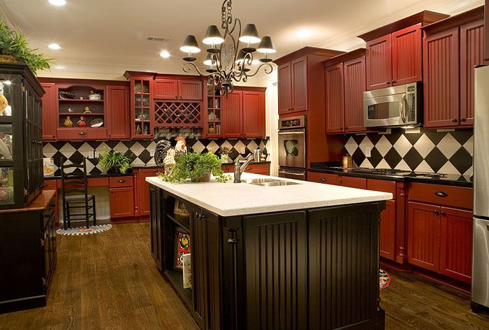 Red Kitchen Cabinets With Black Counter Don T Like