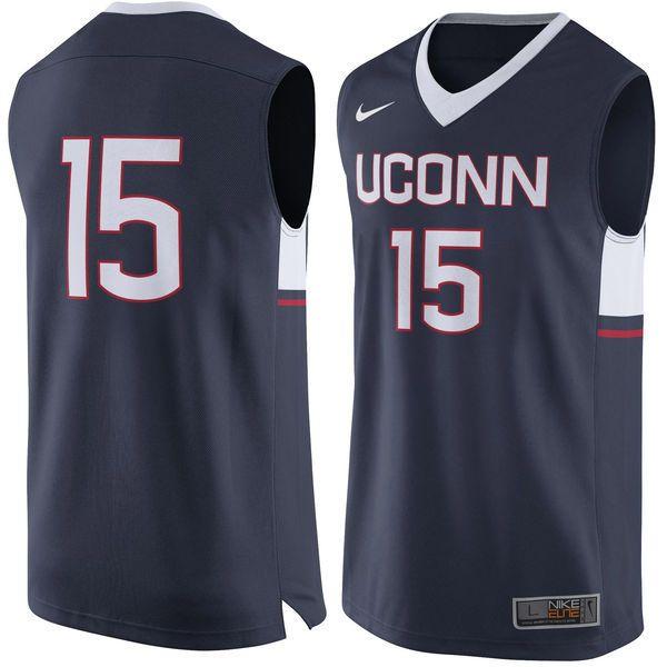 #15 UConn Huskies Nike Replica Jersey - Navy