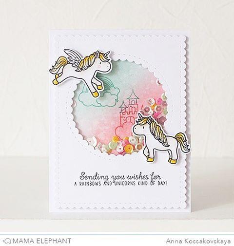 Showcasing Unicorns and Rainbows set on @heymamaelephant blog today! И еще одна единороговая открыточка, вся команда сделала с этим набором, смотрите в блоге Мамы) #скрап #скрапбукинг #открытка #кардмейкинг #штампинг #scrapbook #scrapbooking #card #cardmaking #stamping #mamaelephant