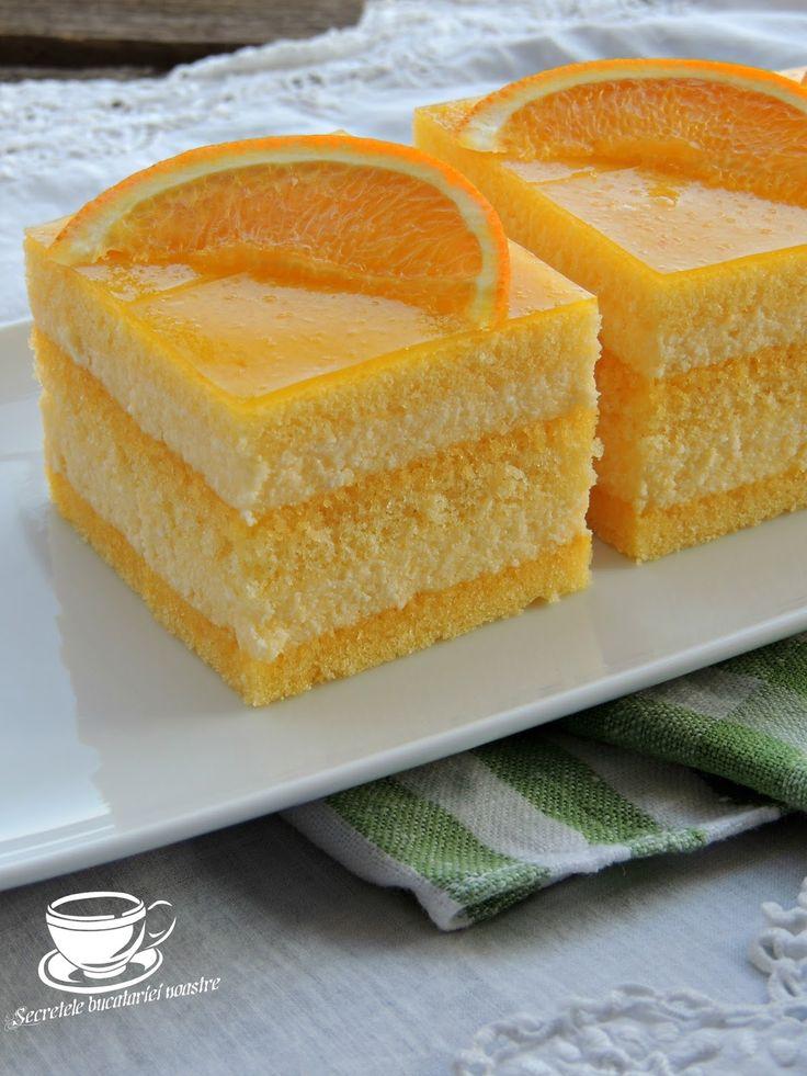 prajitura cu branza dulce, prajitura cu sirop de portocale, sirop de portocale reteta, prajituri rapide, retete cu citrice, retete cu portocale