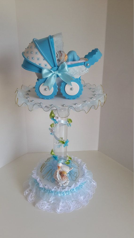 Baby boy centerpiece for shower by sliceofdreams on