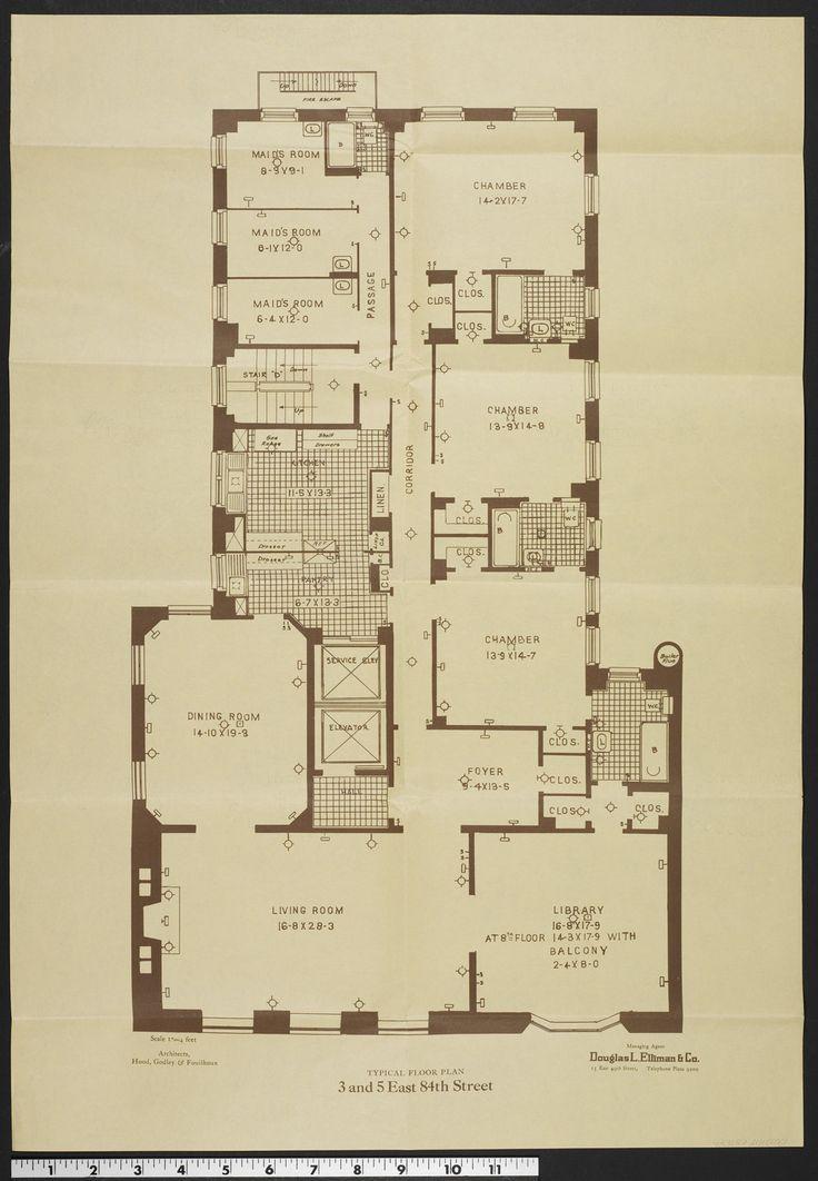 94 best manhatan images on pinterest floor plans house for 1020 fifth avenue 8th floor