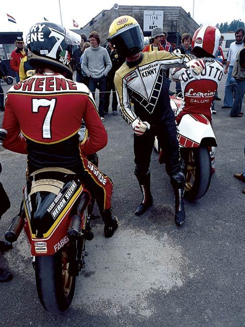 Kenny Roberts, Barry Sheene, Cecotto