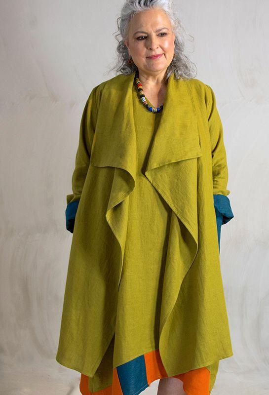 New Edy jacket £305, over Emily Shift dress in linen £275.