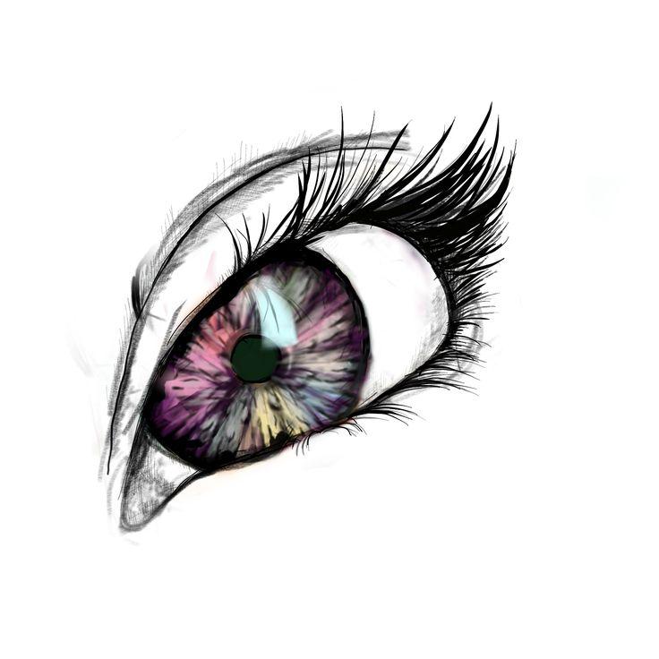 Procreate - sketch of eye