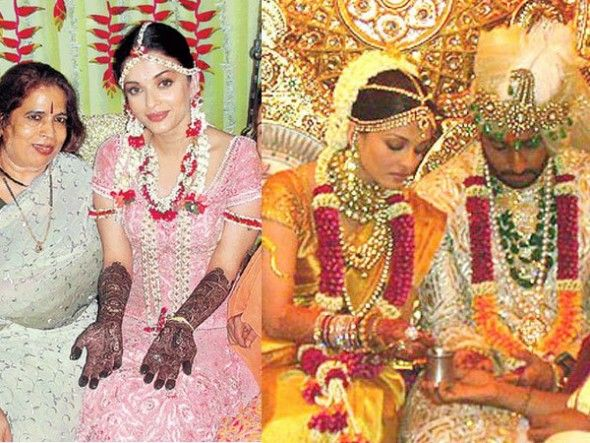 "Aishwarya Rai Bachchan and Abhishek Bachchan fell in love on the sets of ""Umrao Jaan"" The couple got hitched in 2007, in a big fat wedding. 