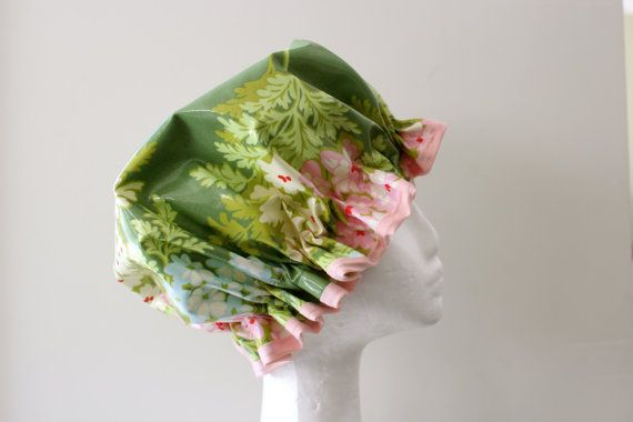 Vintage Retro Style Shower Cap. Handmade. PVC & BPA by PureHaven, $22.99