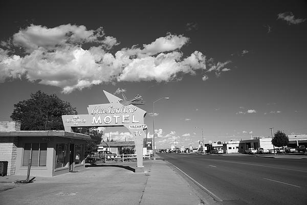 Route 66 -  Blue Swallow Motel, Tucumcari, New Mexico. Just the sort of motel we used to stay in driving across country on summer vacation. Probably stayed here, in fact.