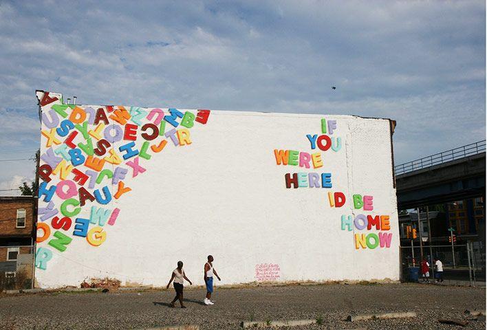 A Love Letter For You – Philadelphia, 2009 by Steve Powers http://www.aloveletterforyou.com/?author=3 #street_art #art #murals