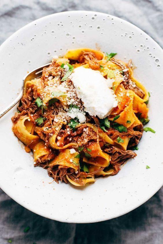 Slow Cooker Beef Ragu | pinchofyum.com #pasta #ragu #slowcooker #crockpot