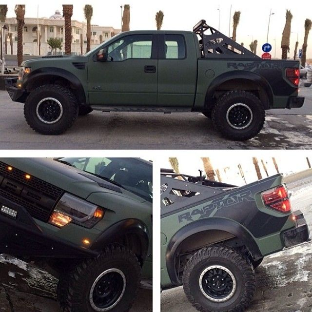 Matte Army Green Ford Raptor
