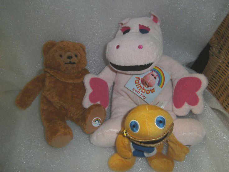 Rainbow - George - Bungle & Zippy - 3 TV Character Toys