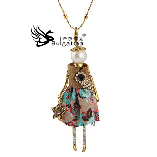 Cheap dress america, Buy Quality necklace pair directly from China necklace cabochon Suppliers:                           2014 Hot New Design Gold Plated Doll Necklace Princess Dress Figure Man/woman Pendants & N