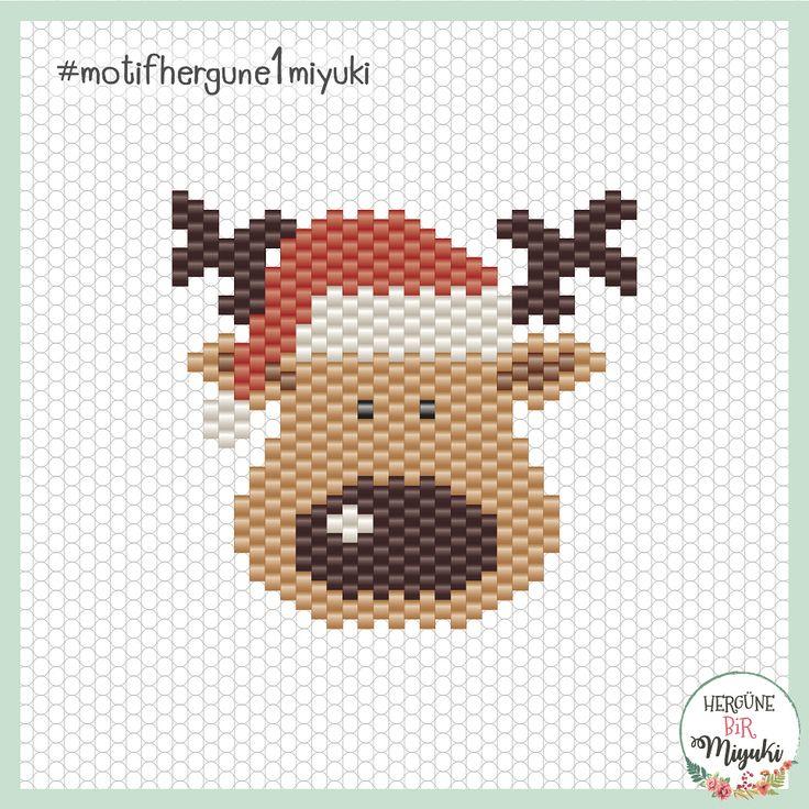 67. Gün / Day 67: Geyik / Reindeer #geyik #yılbaşı #yeniyıl #reindeer #deer #newyear #christmas #christmastime #rudolf #67 #hergune1miyuki #hergüne1miyuki #motifhergune1miyuki desen / pattern by: @hergune1miyuki ... Desenim kullanıma ve paylaşıma açıktır, tek ricam paylaşım yaparken beni 'tag'lemeyi unutmayın lütfen teşekkürler... Deseni görmek için fotoğrafı kaydırın. / My pattern is free to use and share, I'll appreciate if you mention me while sharing ☺️ thank you... Swipe for...