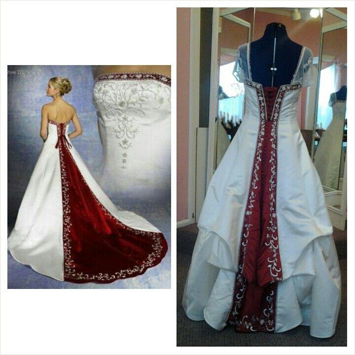 Christmas Wedding Dress Bustle