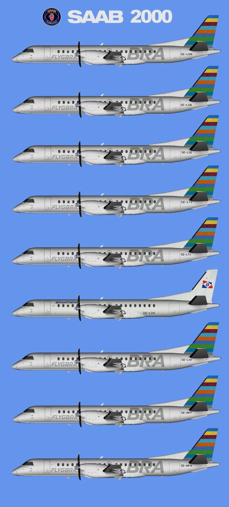 Braathens Regional Airways AB SAAB 2000 Fleet 2016 FS9