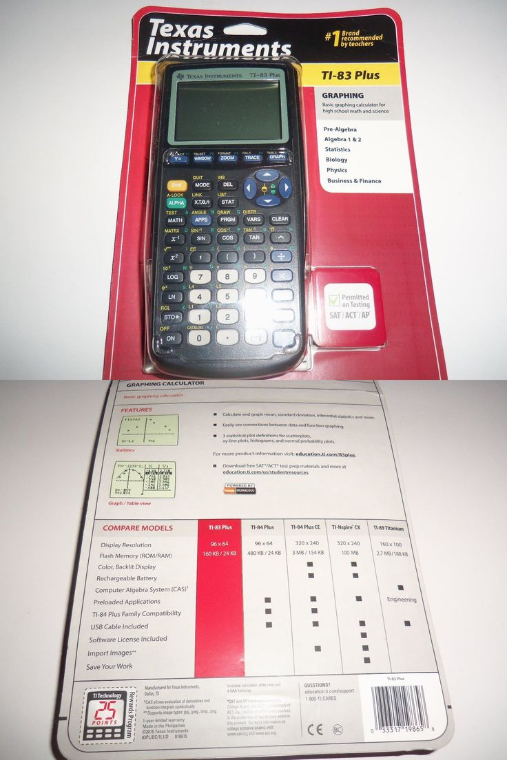 Calculators: Texas Instruments Ti83 Plus Graphing Calculator Brand New > Buy  It