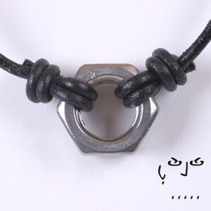 hex nut jewelry | ... exclusive stainless steel hex nut pendant on leather necklace by maya