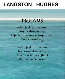 Langston Hughes poem DREAMS seems like a simple poem, yet it teaches