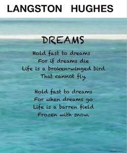 Langston Hughes poem DREAMS seems like a simple poem, yet it teaches