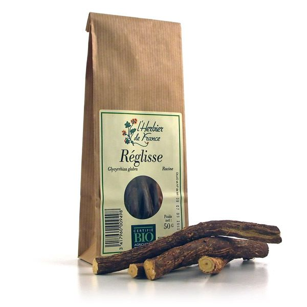 Racine de réglisse bio en bâtons - Cook - Herbier de France - BienManger.com