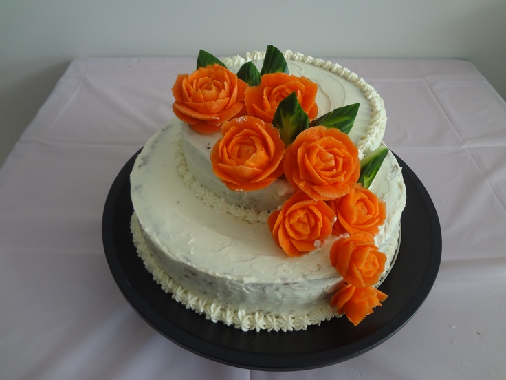 Cake With Icing Roses