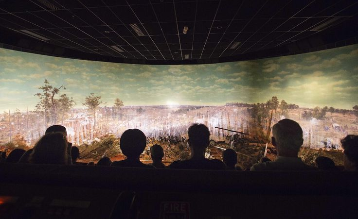 ATLANTA (AP) — A colossal panoramic painting depicting the Battle of Atlanta from the Civil War will be lifted by cranes from the building where it has been for nearly a century and then trucked to its new location.