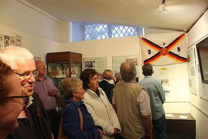 Some of the visitors to the launch of the Klondyker exhibition 20 May 2015