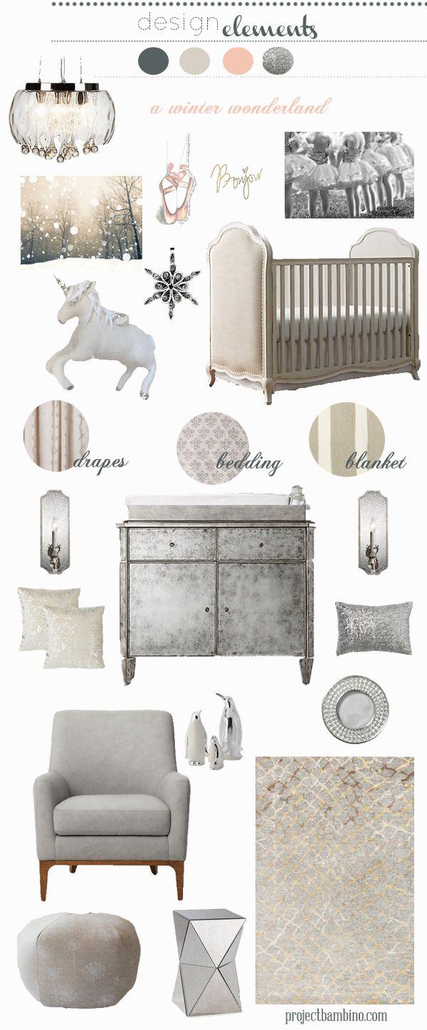gray winter nursery inspiration