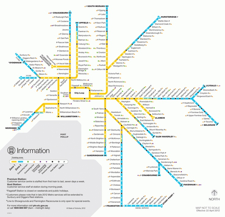 melbourne transit map
