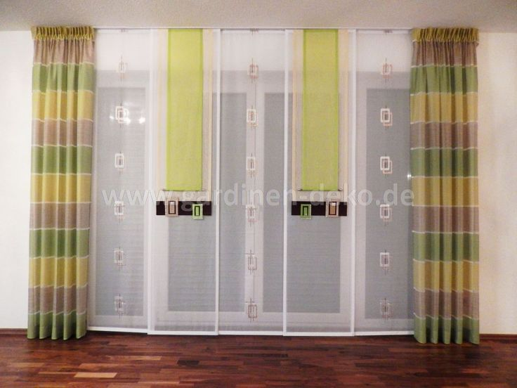 16 best Gardinen images on Pinterest Curtains, Sliding doors and - dekoration wohnzimmer grun