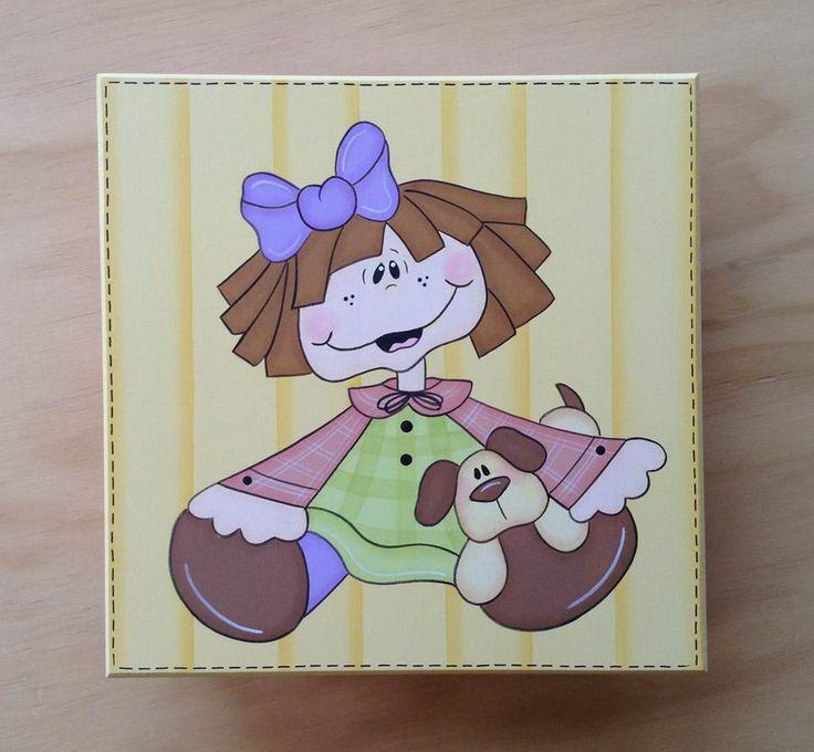 Caja Nena con Perrito por Angélica Tamayo