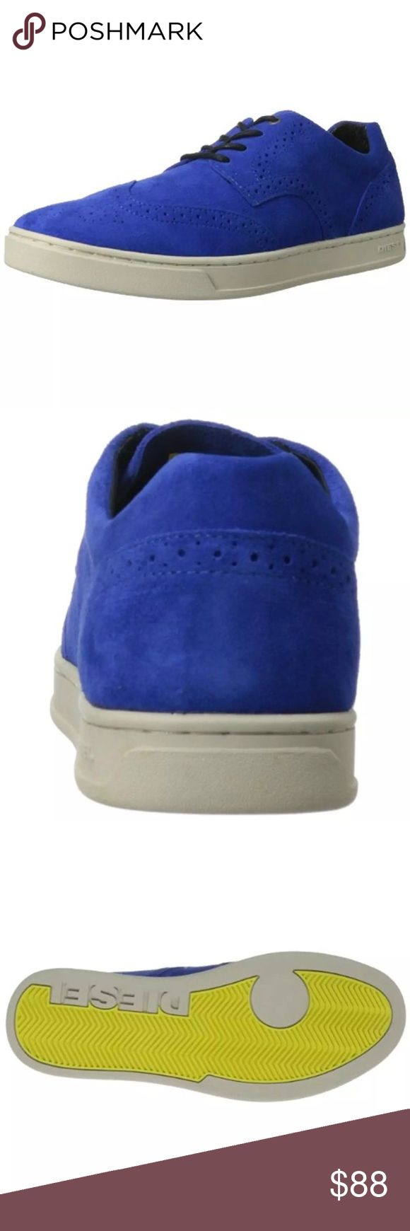 Diesel Prime Time Blue Suede Casual Sneakers (D) Diesel Mens Prime Time Blue Suede Casual Shoes Sneakers multiple sizesMedium (D)  Manufacturer: Diesel Size: 10,10.5,11Medium (D) Size Origin: US Manufacturer Color: Royal Blue Retail: $150.00 Condition: New with box Style Type: Casual Shoes Collection: Diesel Shoe Width: Medium (D) Heel Height: 1 Inches Platform Height: 1 Inches Closure: Front Lace Material: Cow Leather/Man Made Fabric Type: Suede Specialty: Brogue Style Number: Y00846 Diesel…