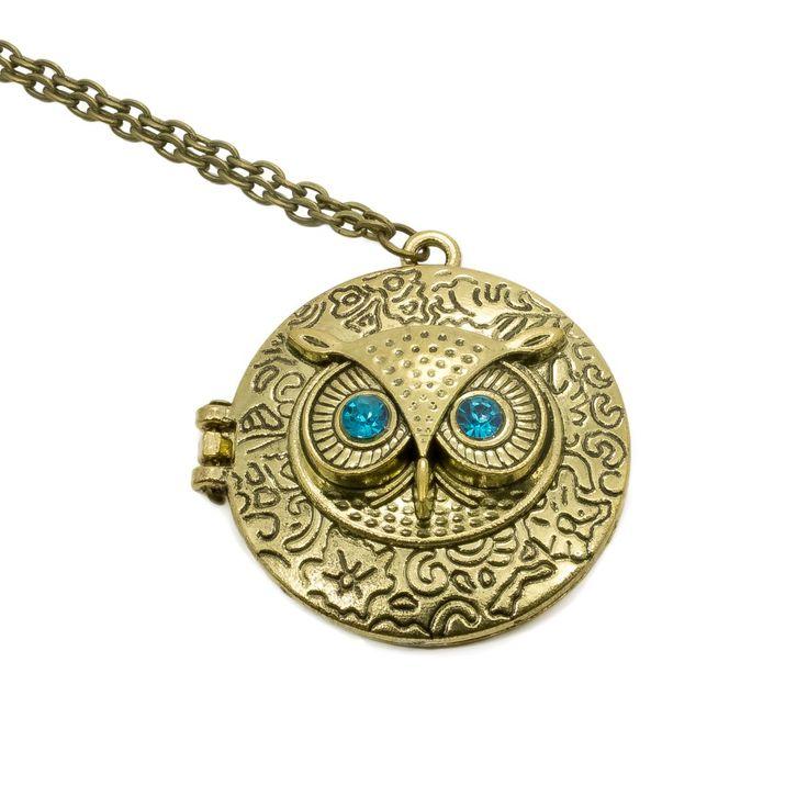 Bronze Owl Locket Necklace, $9 Found at owlness.com