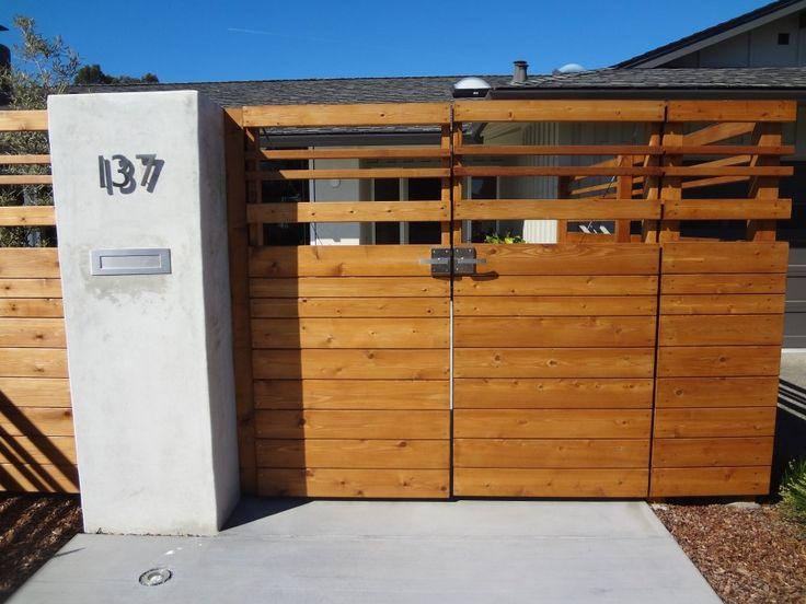 24 Best Gate Images On Pinterest Fencing Modern Fence